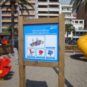 Cartel de Parque Infantil